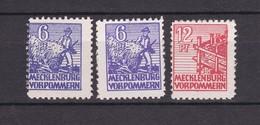 Sowjetische Zone - Mecklenburg-Vorpommern -  1946 - Michel Nr. 33 X + 36 X - Postfrisch - 38 Euro - Sowjetische Zone (SBZ)