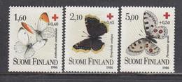 Finland 1986 - Red Cross: Butterflies, Mi-Nr. 993/95, MNH** - Finnland