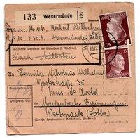 Allemagne  / Colis Postal  / Départ  Wesermünde /  10-12-42 - Allemagne