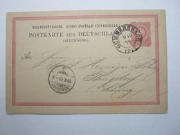 1879 , Ganzsache Mit Stempel GUMMERSBACH - Briefe U. Dokumente