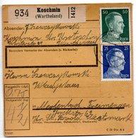 Allemagne  / Colis Postal  / Départ Koschmin ( Watheland ) - Allemagne