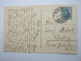 1920 , Karte  Mit Stempel WIESDORF - Briefe U. Dokumente
