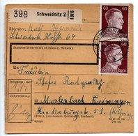 Allemagne  / Colis Postal  / Départ Schweidnitz / 11-1-43 - Allemagne