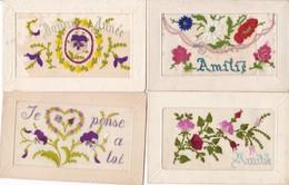 LOT/177......4 CPA BRODEES - 5 - 99 Postkaarten