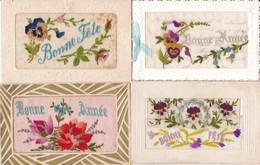 LOT/182......4 CPA BRODEES - 5 - 99 Postkaarten