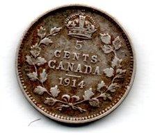 Canada / KM 23  / 10 Cents 1914 / TTB - Canada