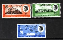 ANTIGUA - 1967 METHODIST CHURCH SET (3V) FINE MNH ** SG 203-205 - Antigua & Barbuda (...-1981)