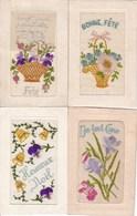 LOT/186.....4 CPA BRODEES - 5 - 99 Postkaarten