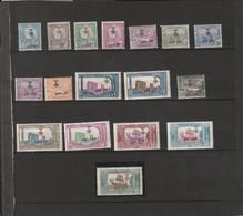 TUNISIE  Types De 1906-22 Surchargés  N° 79*   à   95* - Unused Stamps