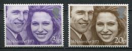 Grossbritanien Mi# 637-8 Postfrisch MNH - Princess Anne - Ungebraucht