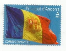 Bandera D'Andorra /Drapeau D'Andorre. (Poder és Més Fort) 2020,  Usado, Primera Calidad - Andorre Espagnol