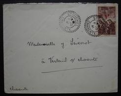 Saint Michel (Charente) 1941 Cachet Tireté X 2  Sur Timbre Mineurs 1f Sur 2 Frs 15, Pour Verteuil - Storia Postale