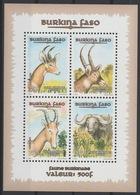 Burkina Faso 1997 Mi. Bl. 171 Faune Burkinabé Fauna Wildlife RARE 4 Val. ** - Burkina Faso (1984-...)