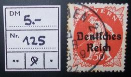 N°170C BRIEFMARKE DEUTSCHES REICH GESTEMPELT GEPRUFT - Duitsland