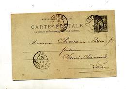 Carte Postale 10 C Sage Cachet Allevard  Saint Chamond - Postal Stamped Stationery