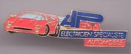V259 Pin's FERRARI électricien Spécialiste Auto Achat Immédiat - Ferrari