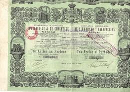 COMPAGNIE MADRILENE D'ECLAIRAGE ET DE CHAUFFAGE PAR LE GAZ -ANNEE 1880 - Electricité & Gaz