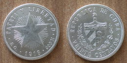Cuba 20 Centavos 1916 Star Silver Argent Centavo Que Prix + Port Pesos Paypal Bitcoin - Cuba