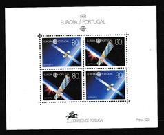 1991 Portogallo Portugal EUROPA CEPT EUROPE Foglietto MNH** Souv. Sheet - Europa-CEPT