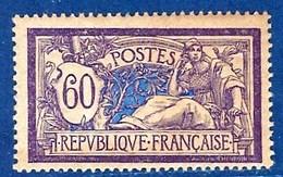 """FR YT 144 """" Merson 60c. Violet Et Bleu GC """" 1907 Neuf** - 1900-27 Merson"""