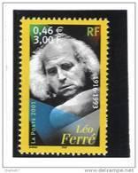 """France 3392  Neuf ** (""""Léo Ferré) Cote 1,00€ (sous Faciale) - France"""