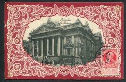 BELGIQUE - BRUXELLES - La Bourse - Carte Brodée - Institutions Internationales