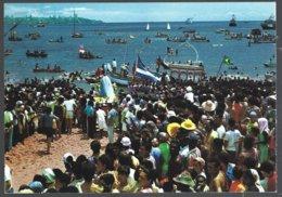 CP Brasil,SALVADOR -BA, Maritime  Procession In Honour Of Senhor Dos Navegantes+barques,voiliers,bateaux. Unused - Salvador De Bahia