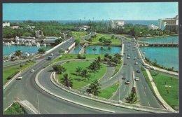 CP  Cloverleaf On Express Highway As Seen From The Miramar Charterhouse, San Juan Puerto Rico . Unused - Puerto Rico
