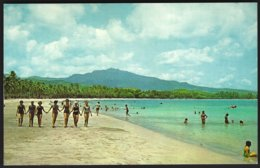 CP  Beautiful Luquillo Beach ,with El Yunque,  Puerto Rico's Highest Mountain Peak,in The Background.unused - Puerto Rico