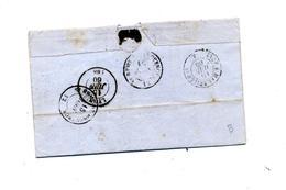 Lettre Cachet Cours Sur Napoleon + Lyon Lyon à Marseille - Postmark Collection (Covers)