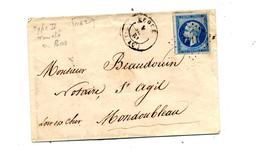 Lettre Cachet Losange  ? Sur Napoleon Vendome - 1849-1876: Periodo Clásico