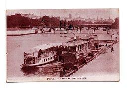 """CPA - PARIS - LA SEINE AU PONT DES ARTS / TAPIOCA """"LA RENOMMÉE"""" - La Seine Et Ses Bords"""