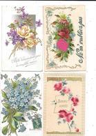 11414 - Lot De 100 CPA Fantaisies, Fleurs, - Postcards