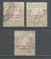 Bavaria 1888/95 Years Used Stamps , Mi. Porto 10-12 - Beieren