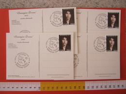 A.15 ITALIA ANNULLO 2008 CRESCENTINO VERCELLI IMMAGINE DONNA MOSTRA ITINERANTE SERIE 4 CARTOLINE STAGIONI DI 4 LOCATION - Culture