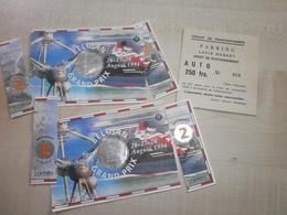 Anciens Tickets D'entrées GRAND PRIX FORMULE 1 FRANCORCHAMPS 1994  AVEC TICKET PARKING - Eintrittskarten