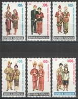 Indonésie - YT 1254-1259 ** MNH - 1991 - Costumes De Mariage - Indonésie