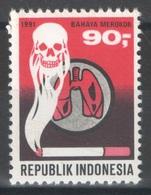 Indonésie - YT 1253 ** MNH - 1991 - Lutte Contre Le Tabagisme - Indonésie