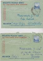 Italie, Aérogramme, Biglietto Postale Aéreo. - 1946-.. République