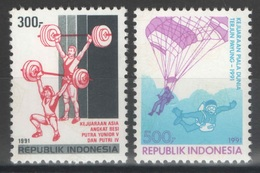 Indonésie - YT 1264-1265 ** MNH - 1991 - Sports - Indonésie