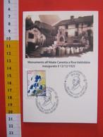 A.15 ITALIA ANNULLO 2008 RIVA VALDOBBIA VERCELLI 100 ANNI MORTE BOTANICO ABATE CARESTIA FLORA OCCHIALI DOCTOR SCIENZIATO - Altri