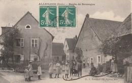 25 / Allenjoie - Route De Bourgogne - Trés Belle Animation Ecrite 1910 - Other Municipalities