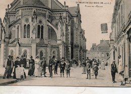 St - Martin  Du  Bois -   Place  De  L' église. - Tierce