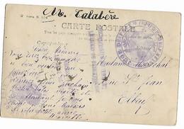 Calvados ORBEC Cachet Violet Juge De Paix Canton D'Orbec + Griffe Peu Courante Sur Cpa......G - Poststempel (Briefe)