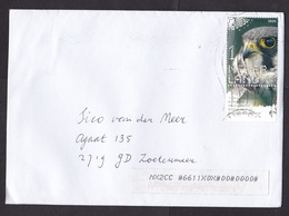 Netherlands: Cover, 2020, 1 Stamp + Tab, Tree Falcon Bird (traces Of Use) - Storia Postale