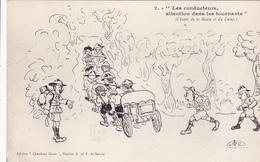 """Cpa-div-illustrateur-scout-les Conducteurs , Atte,tion....-edi """"chardons Bleus"""" District E . F De Savoie - Scoutisme"""