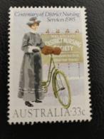 Australie 1985 AU 898 District Nurse  Habits Et Costumes | Professions | Soin Et Santé | Vélos - Mint Stamps
