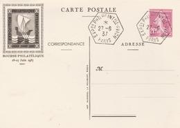 France Entier Postal Illustré Pexip 1937 - Postal Stamped Stationery