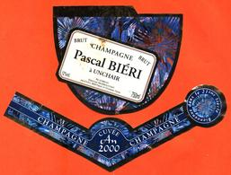 étiquette + Collerette De Champagne Brut An 2000 Pascal Biéri à Unchair - 75 Cl - Champagne