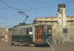 ATM 713 Milano Caproni Piazzale Santorre Carminati & Toselli Straßenbahn Vueling Raitiovaunu Trolley Trollies Transit - Stations With Trains